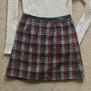 Adorable Plaid Skirt with Zipper & Leather Accents